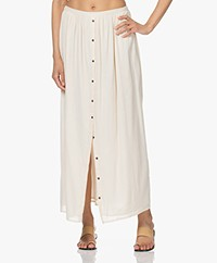by-bar Molly Crinkle Viscose Maxi Skirt - Stone