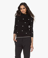 Plein Publique Les Points Polkadot Sweater - Black/Off-white