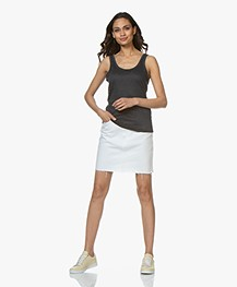 Rag & Bone Moss Denim Rok - Wit