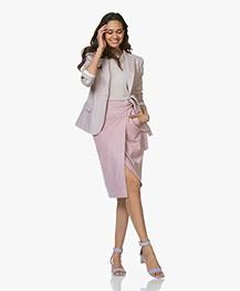 Filippa K Sasha Katoenmix Twill Blazer - Frosty Pink