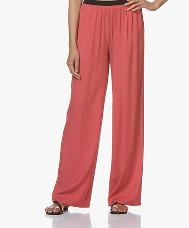 BY-BAR Dorris Loose-fit Twill Broek - Raspberry