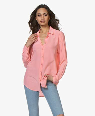 Equipment Essential Zijden Blouse - Pop Pink