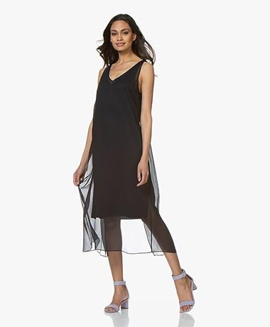 Filippa K Roma Silk Dress - Navy