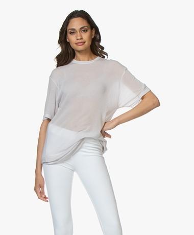 IRO Lost Lang Tencel T-Shirt - Chalk
