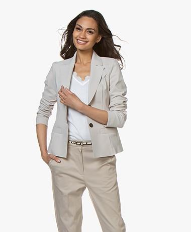 Woman By Earn Juul Bonded Tech Jersey Blazer - Zand