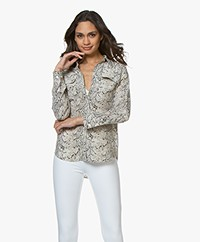 Equipment Slim Signature Washed-silk Shirt - Snake Print