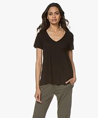 American Vintage Jacksonville V-neck T-shirt - Black