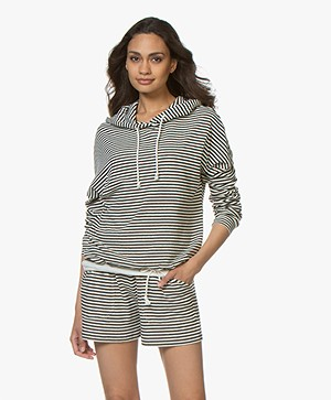 Closed Gestreepte Hooded Sweater - Blanched Almond