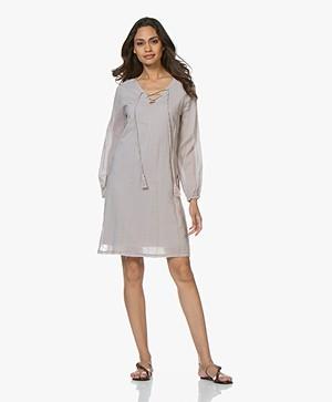 BRAEZ Voile Dress with Lace Closure - Platin