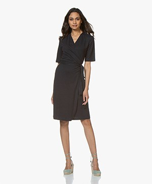 Filippa K Linen Wrap Dress - Navy