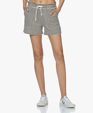 Closed Striped Felpa Shorts - Blanched Almond