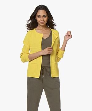 Sibin/Linnebjerg Lulu Short Cardigan - Yellow