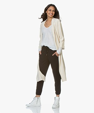 forte_forte Viscose Crepon Duster Coat - Naturale