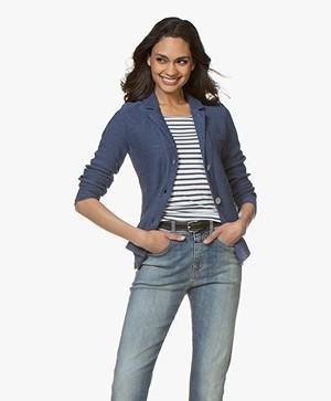 Belluna Cassoni Linnenmix Gebreide Blazer - Jeans