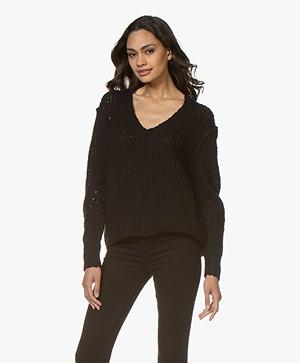 Rag & Bone Arizona Chunky Knitted Sweater - Black