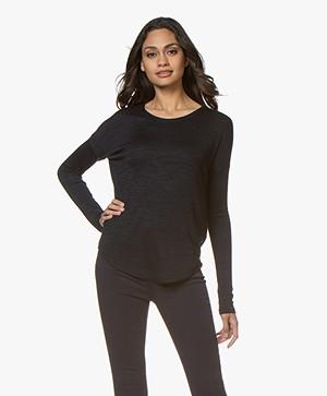 Rag & Bone Hudson Fine Knit Sweater - Navy Black
