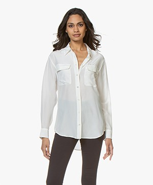 Equipment Signature Washed-silk Shirt - Nature White
