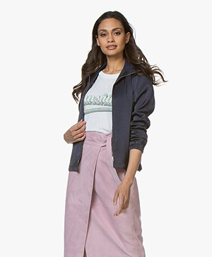 Filippa K Satin Jacket - Moody Blue