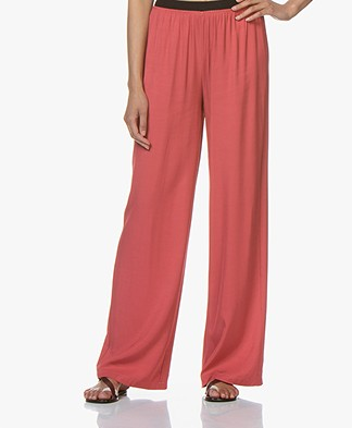 BY-BAR Dorris Loose-fit Twill Pants - Raspberry