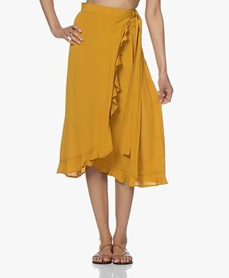 BY-BAR Bibi Wrap Skirt with Ruffles - Crown