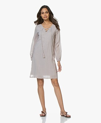 BRAEZ Voile Dress with Lace Closure - Platin