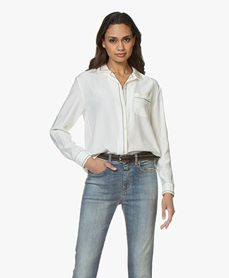 Rag & Bone Anika PJ Pure Silk Shirt - Chalk