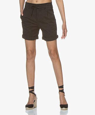 Drykorn Trainee Cotton Blend Shorts - Black