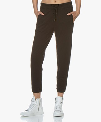 James Perse Fleece Pull On Sweatpants - Black