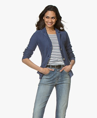 Belluna Cassoni Linen Blend Knitted Blazer - Jeans