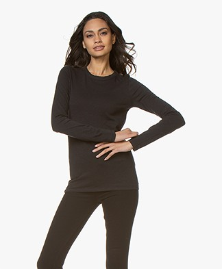 Rag & Bone Pure Cotton Longsleeve - Black