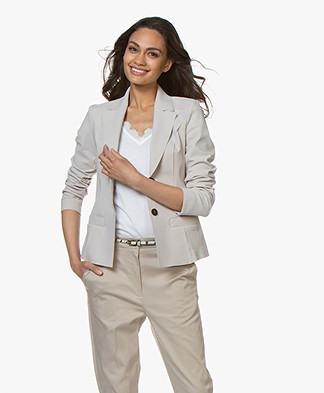 Woman By Earn Juul Bonded Tech Jersey Blazer - Sand