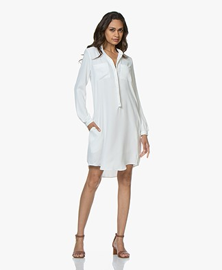 Woman by Earn Ted Jersey Shirt Dress - Off-white