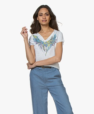 Zadig & Voltaire Tunisien Mc Wings T-shirt - Wit