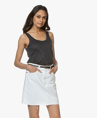 ba&sh Lulu Linen Tank Top - Carbone