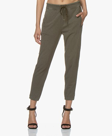James Perse Fleece Pull On Sweatpants - Army Green
