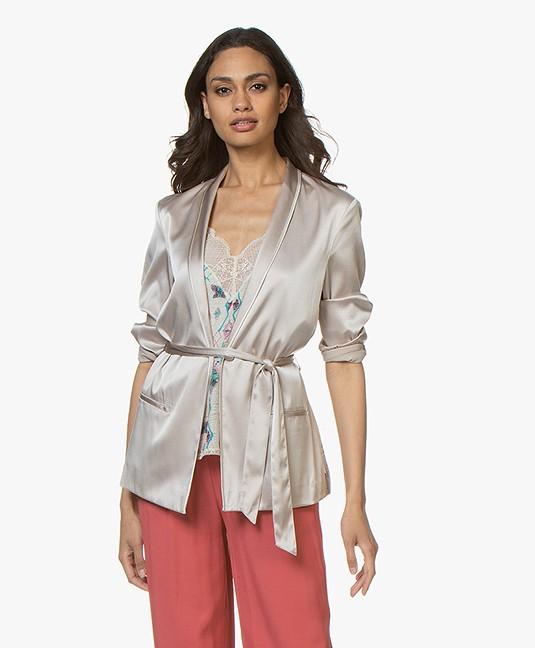 76af7fb41f588d Home; »; blouses & tunics; »; blouses · Filippa K. Silk Satin Pyjama Shirt  Mousse