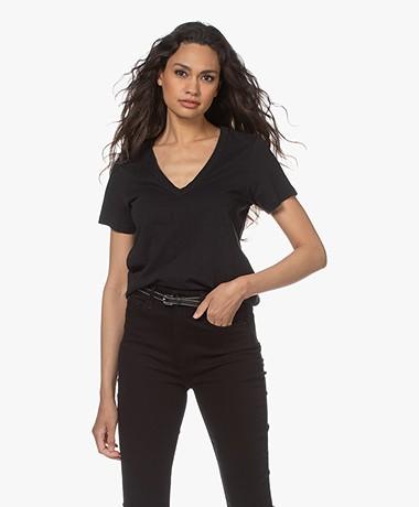 Rag & Bone The Vee T-shirt - Zwart