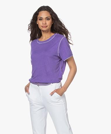 American Vintage Lolosister Linen T-shirt - Purple