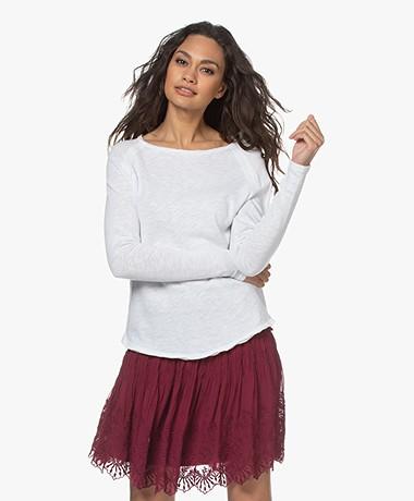 American Vintage Sonoma Slub Sweatshirt - Wit