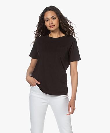 Closed Biologisch Katoenen T-shirt - Zwart