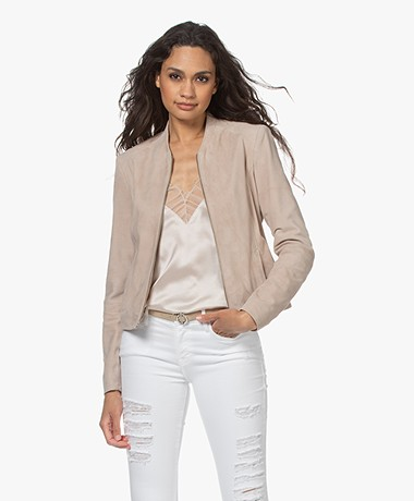Repeat Luxury Suede Jacket - Nougat