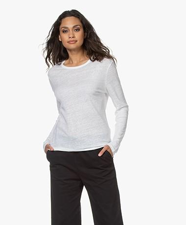 Filippa K Lily Linen Long Sleeve - White