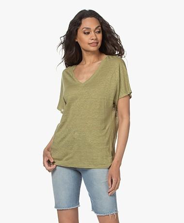 Josephine & Co Lette Linen T-shirt - Palmleaf