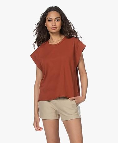 Rag & Bone Ryder Muscle Organic Cotton T-shirt - Paprika