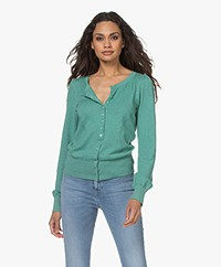 Plein Publique L'Essence Cotton Blend Cardigan - Mist Green