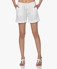 Josephine & Co Loyd Linnen Bermuda Short - Off-white