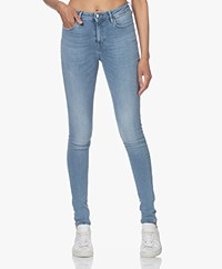 Denham Needle High Skinny Jeans - Light Blue
