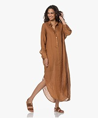 Mes Demoiselles Puglia Linen Shirt Dress - Amber