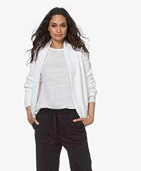 indi & cold Ribbed Cotton Cardigan - White