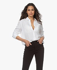Rails Ellis Cotton Muslin Shirt - White